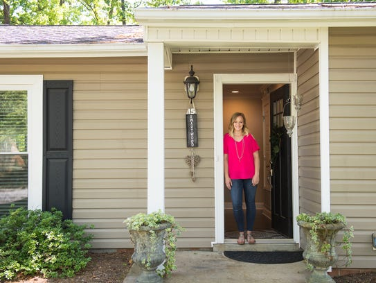 Laura Swartwood is pictured at one of her Airbnb properties