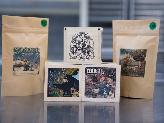 Products from Table Rock Tea Company are pictured on