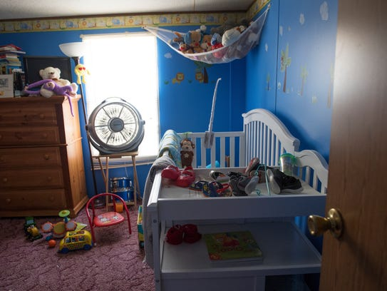 The bedroom of 18-month-old Jojo, who died of a heat