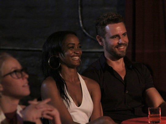 Bachelor Nick Viall Right Sits With Rachel Lindsay
