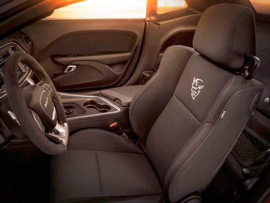 here 39 s why the 2018 dodge demon has no passenger or rear seats. Black Bedroom Furniture Sets. Home Design Ideas