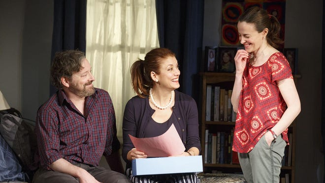 "Jeremy Shamos, Kate Walsh (center) and Maria Dizzia star in ""If I Forget."""