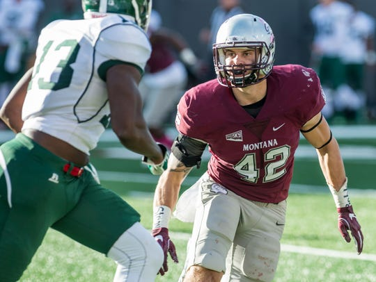 Montana Grizzly senior linebacker Josh Buss has been