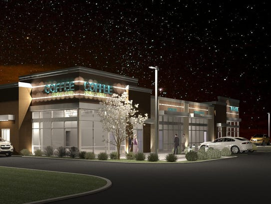 A rendering of the building proposed for 1490 Oneida
