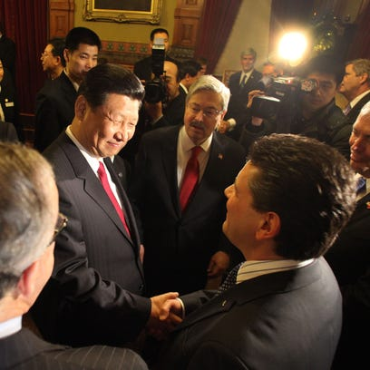 It took a man from Italy to help convince the future president of China of Iowa's greatness