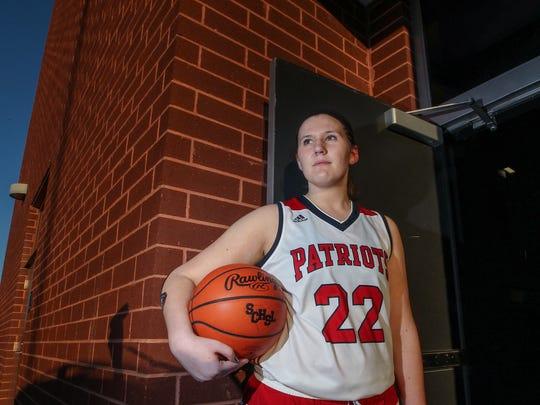 Kaitlyn Carpenter, a senior girls basketball player at Powdersville High School, is the first basketball player at the school to reach the 1,000 point milestone.