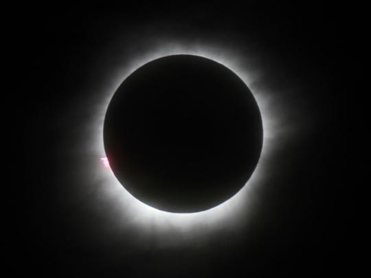 This March 9, 2016, file photo shows a total solar eclipse in Belitung, Indonesia. The total solar eclipse on Aug. 21, 2017, will be the first in the mainland U.S. in almost four decades.   (AP Photo, File)