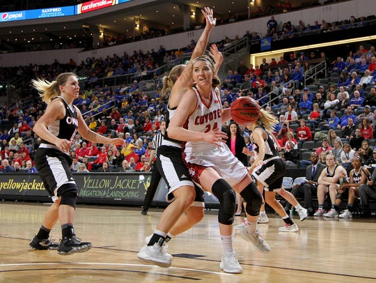SIOUX FALLS, SD: MARCH 5: Ciara Duffy #24 from the