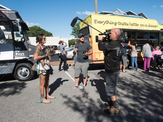 The Great Food Truck Race Filming