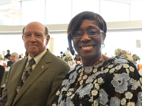 Bossier mayor Lo Walker and Shreveport mayor Ollie Tyler at the Virginia K. Shehee Most Influential Woman Award luncheon held Wednesday at Shreveport's East Ridge Country Club.