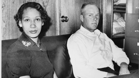 Mildred Loving and her husband, Richard P. Loving, are shown in this Jan. 26, 1965, photo. The couple's challenge of Virginia law banning interracial marriage led to a landmark Supreme Court decision.