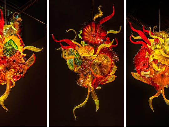 Dale Chihuly, Autumn Persian and Feather Chandelier,