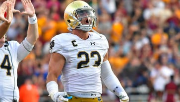 Notre Dame's Drue Tranquill has a job to finish