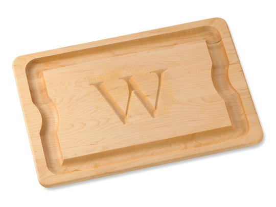 Monogram maple carving board