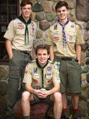 Trevor Kelterborn, Dominic Duhn and Paul Boran of Troop 755 have achieved the rank of Eagle Scout.