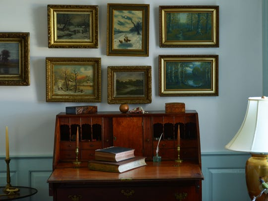 A desk in the living room of Stratton Manor is from circa 1765. The historic home in Cape Charles, Va. is featured on this year's Eastern Shore House and Garden Tour.