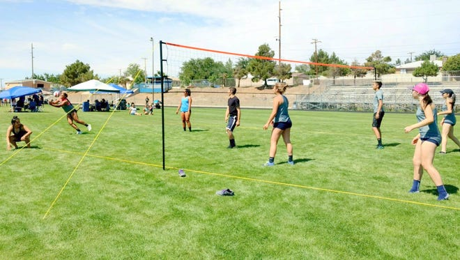 Teams see action during the Silver High grass volleyball event that was held at Fox Field over the weekend.
