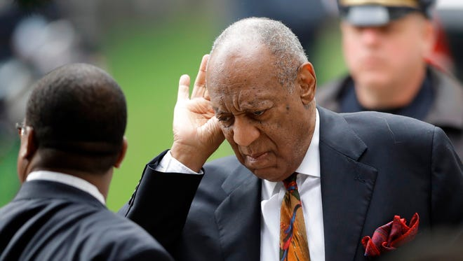 Bill Cosby arrives for the ninth day of his sexual-assault retrial, where drug experts are expected to testify about quaaludes, which he allegedly gave to women before sexual encounters.