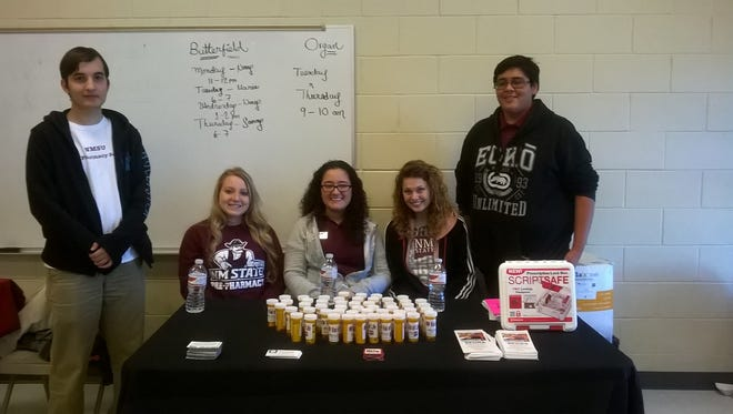 SPUDS members, from left,  Ahmed Muhyi, Emily Riggs, Michaela Gallegos, Kaitlin Garrett and Miguel Hernandez