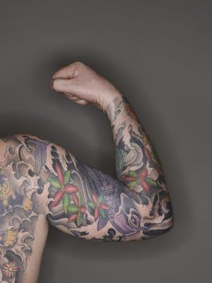 Detail of Tattooed Man
