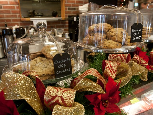 Fresh-baked goods line the counters at Hudson Cafe.