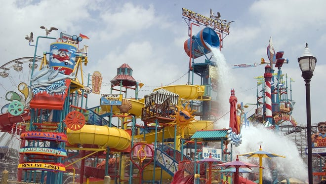 The Boardwalk at Hersheypark features a wave pool, lazy river, water slides and other water attractions.