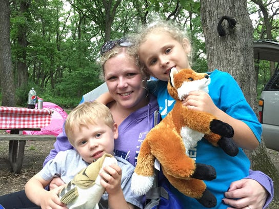 Kelsey Bast of Shakopee, camping with husband, Lee,