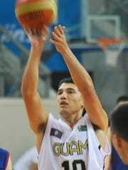 Willie Stinnett, he longtime Team Guam captain whom coach Danny Payumo calls the floor general, shoots a free throw in this file photo taken from the East Aisian Games in Tianjin in 2014. Stinnett says that the squad cares more about executing plays than it does about running up the score on an opponent. Ultimately, securing wins matters most.