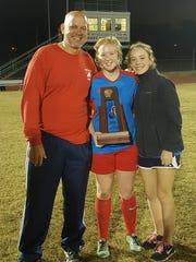 Leon girls soccer assistant coach Lance Kerwin, goalie
