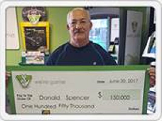 Staunton man cashes $150,000 lottery winner