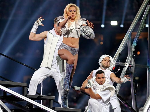 Lady Gaga performs during the Super Bowl LI halftime