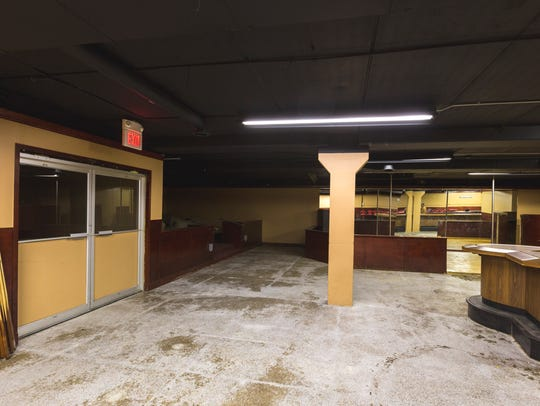 Inside of what will be Linner's Oasis, named after