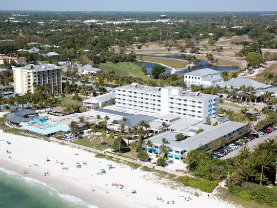 Naples Beach Hotel & Golf Club can be seen from overhead