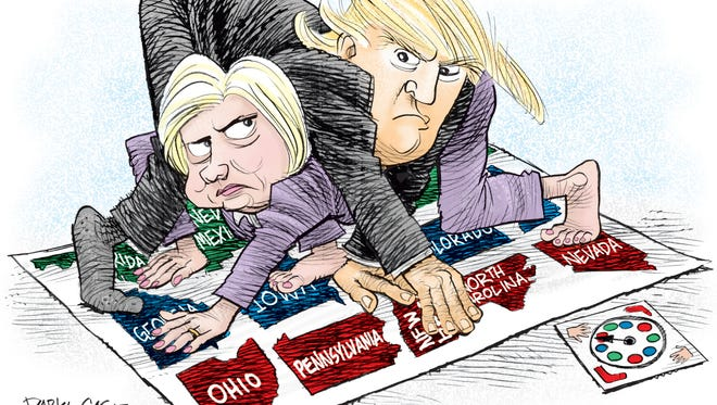 Hillary and Trump Twister
