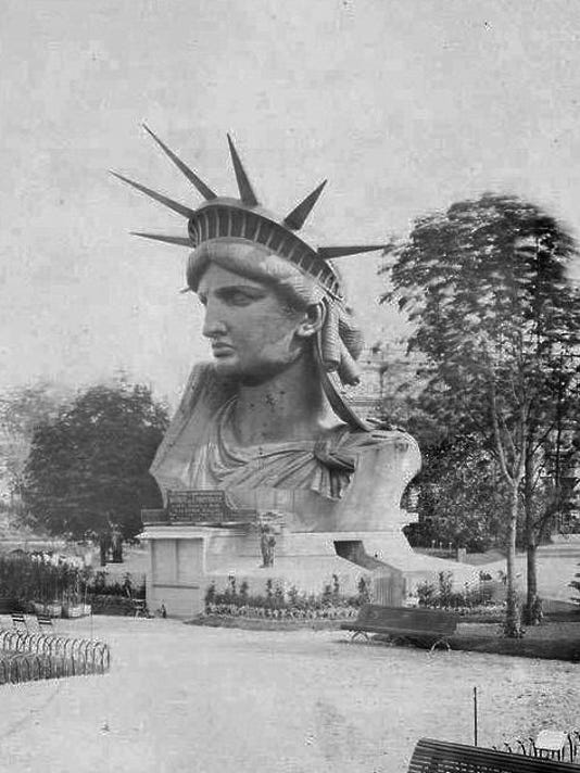 #1 Statue of Liberty under construction 1883