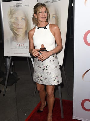 Jennifer Aniston attends the premiere of 'Cake' in Hollywood.