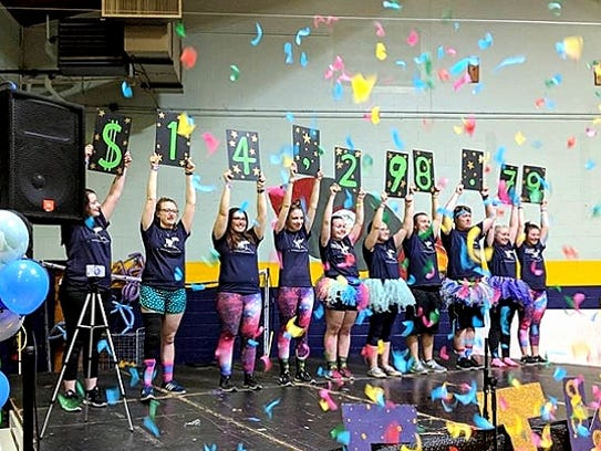 A dance marathon held recently by Elmira College raised