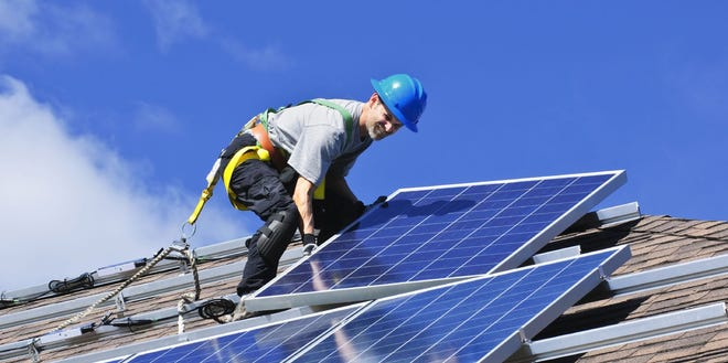As renewable energy (in Arizona's case, mainly solar) is produced, renewable energy credits are created. Why? 'Cause some self-appointed green energy clearinghouses say they are.