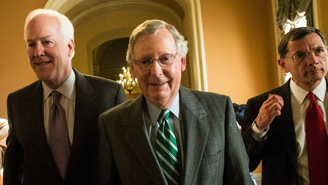 Senate Minority Leader Mitch McConnell, R-Ky., has been engaged in intensive talks with his counterpart, Majority leader Harry Reid, D-Nev., over how to raise the debt ceiling and reopen government agencies.