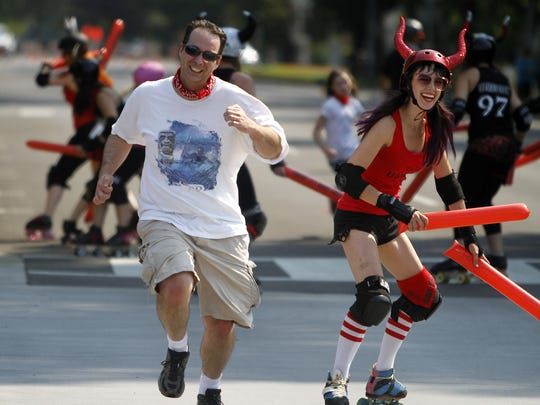 "Cherry City Derby Girls will kick off the third annual Salem Sunday Streets with a ""Running of the Bulls"" at noon Sunday."