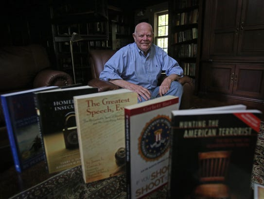 Don Bracken, a local publisher whose book about the
