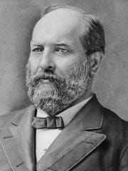President James A. Garfield is shown in an undated