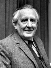 JRR Tolkien is shown in this 1967 photo.