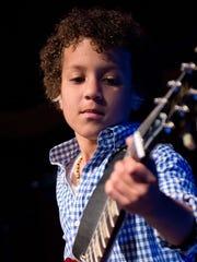 "Teen guitarist Brandon ""Taz"" Niederauer performs Friday"