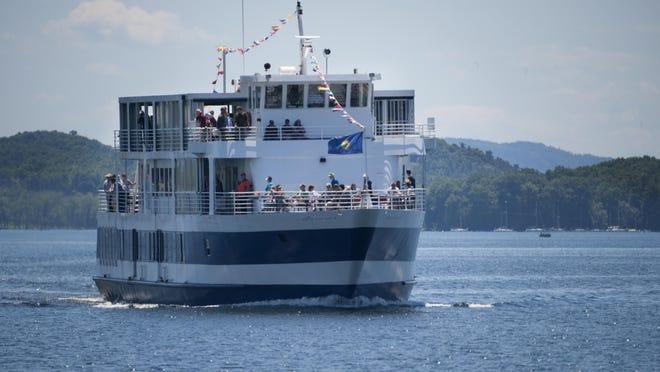 The Spirit of Ethan Allen III enters Burlington Harbor in Burlington in 2016.