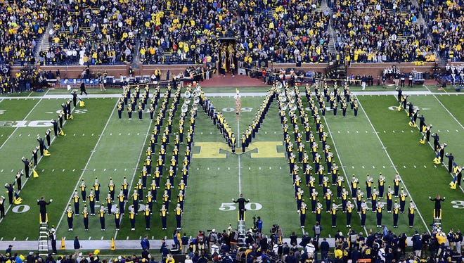 The Michigan marching band on Oct. 11, 2014.