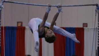 Thirteen-year-old Landen Blixt won the all-around gold medal in the Future Stars National Championships in November.