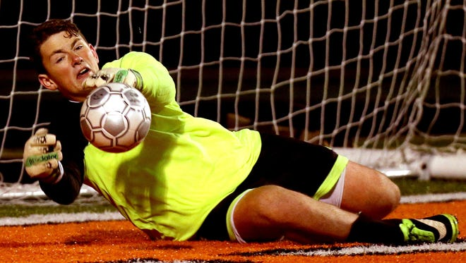 Newport Central Catholic's Paul Grosser (pictured) and Highlands' Nick Breslin are among the top returning goalkeepers in Northern Kentucky.