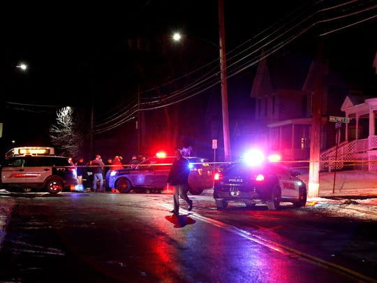 A New York State trooper sustained non-life threatening injuries after being struck by a car in the area of Conklin Avenue in Binghamton.