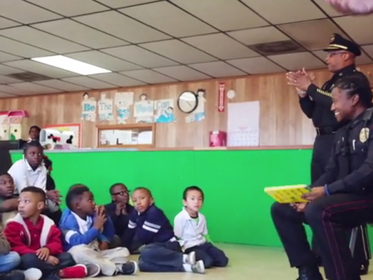 Vicksburg Police Chief Walter Armstrong and one of his officers read books to local students in a video released by the Mississippi Association of Chiefs of Police.